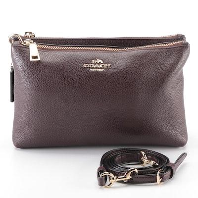 Coach Lyla Double-Zip Crossbody Bag in Pebbled Leather