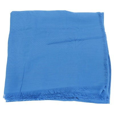 Versace Collection Shawl in Blue Lenpur