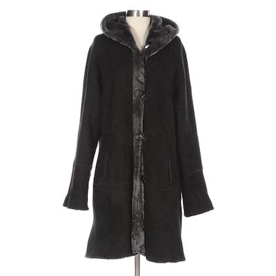 Harlin Reversible Shearling Hooded Coat