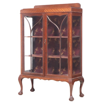Chippendale Style Mahogany Display Cabinet, Early 20th Century