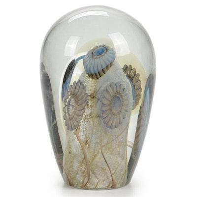Robert Eickholt Handblown Art Glass Paperweight, 2007