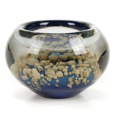 Robert Eickholt Handblown Art Glass Bowl, 2007