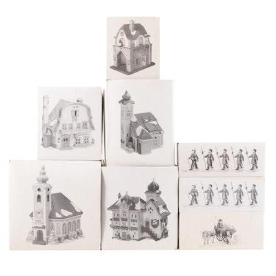 "Department 56 ""Alpine Village"" Porcelain Figurines and Villagers"