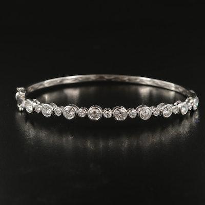 14K 2.25 CTW Diamond Hinged Bangle