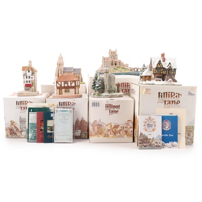 """Lilliput Lane """"Eilean Donan Castle"""", """"Eamont Lodge"""" and Other Resin Figurines"""