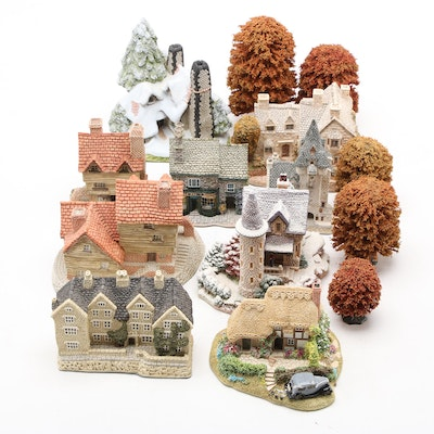Lilliput Lane and David Winter Building Figurines and Trees
