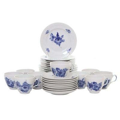 "Royal Copenhagen ""Blue Flowers Braided"" Porcelain Dinnerware, Mid-20th Century"