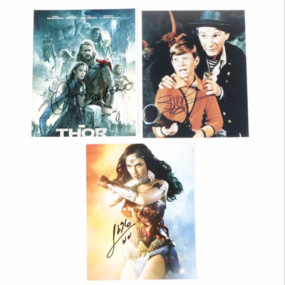 """Gal Gadot """"Wonder Woman,"""" Chris Hemsworth """"Thor,"""" and Others Signed Photo Prints"""