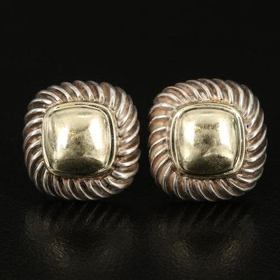 David Yurman Sterling Earrings with 14K