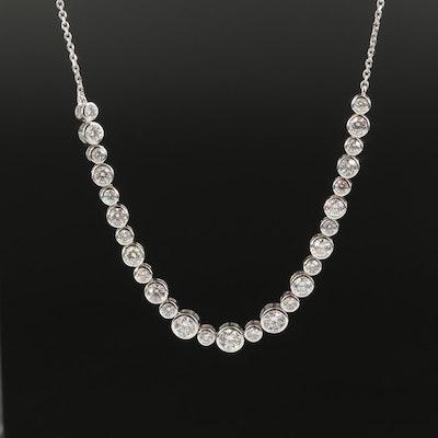 14K 2.50 CTW Diamond Necklace with IGI Summary