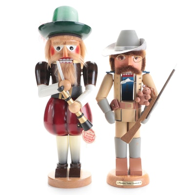 """Roman """"Theodore Roosevelt"""" and Steinbach Handcrafted Wood Nutcrackers"""