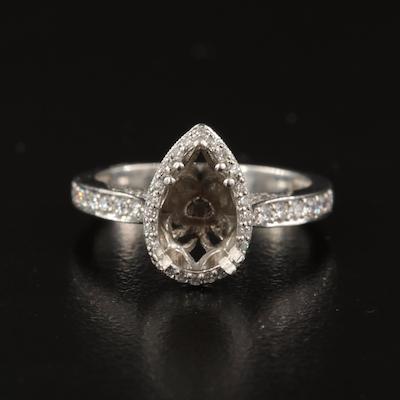 Tacori Platinum 0.42 CTW Diamond Semi-Mount Ring