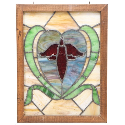 Stained and Leaded Glass Panel, 20th Century