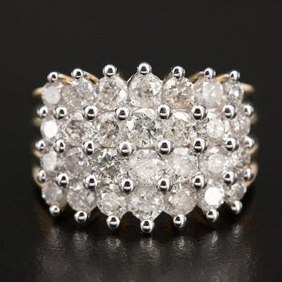 10K 3.00 CTW Diamond Cluster Ring