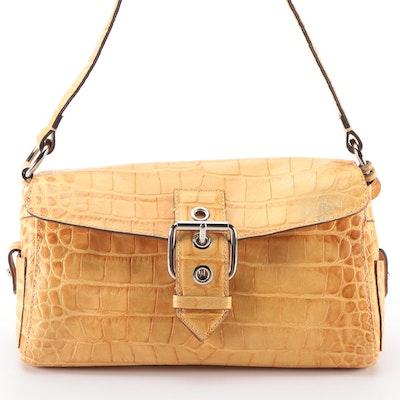 Dooney & Bourke Shoulder Bag Small Croc-Embossed Leather