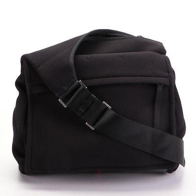 Prada Sling Messenger Bag in Black Neoprene with Leather