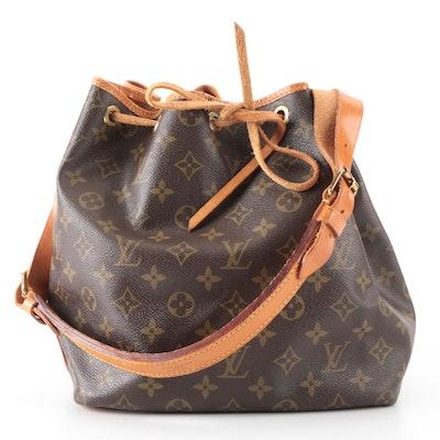 Louis Vuitton Petit Noé Bucket Bag in Monogram Canvas and Vachetta Leather