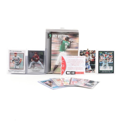 Joey Votto Bobblehead with Cards, One Signed