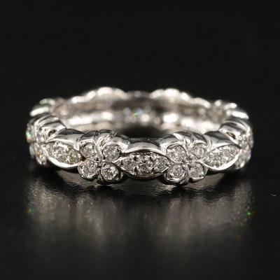 14K 0.60 CTW Diamond Floral Eternity Band