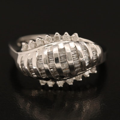 14K 0.50 CTW Diamond Domed Ring