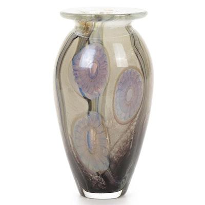 "Robert Eickholt ""Seascape"" Handblown Art Glass Vase, 2008"