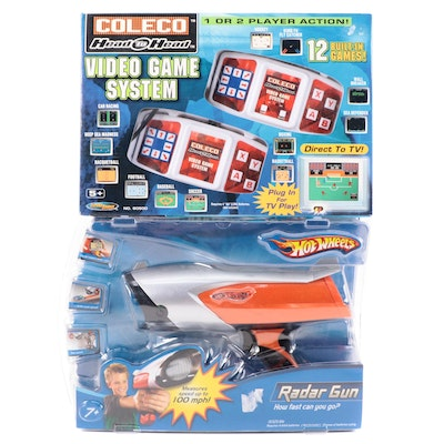 Hot Wheels Radar Gun with Coleco Head to Head Video Game System