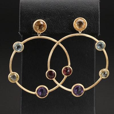 """Marco Bicego """"Jaipur Color"""" 18K Gemstone Hoop Earrings"""