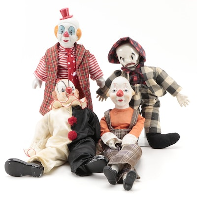 Jui Shan Musical and Other Porcelain Clowns, Late 20th Century