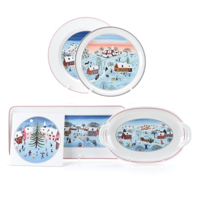 "Villeroy & Boch ""Naif Christmas"" Porcelain Serveware"