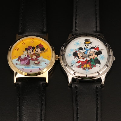 Two Cast Holiday Celebration Wristwatches