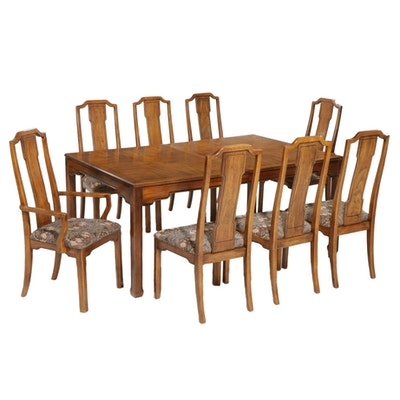 Thomasville Dining Table and Chairs, Late 20th Century