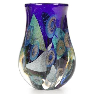 """Robert Eickholt """"Deep Sea"""" Handblown Art Glass Vase, 2003"""
