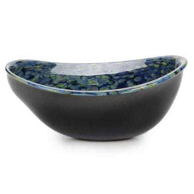 Robert Eickholt Handblown Freeform Art Glass Centerpiece Bowl, 2012