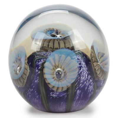 """Robert Eickholt """"Deep Sea"""" Handblown Art Glass Paperweight, 2008"""