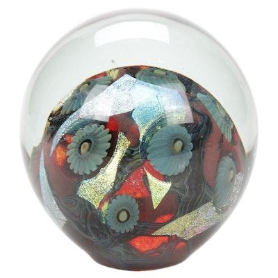 """Robert Eickholt """"Deep Sea"""" Handblown Art Glass Paperweight, 2007"""