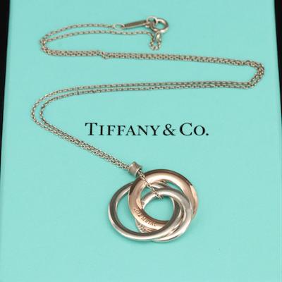 Tiffany & Co. Sterling 1837 Interlocking Circles Pendant