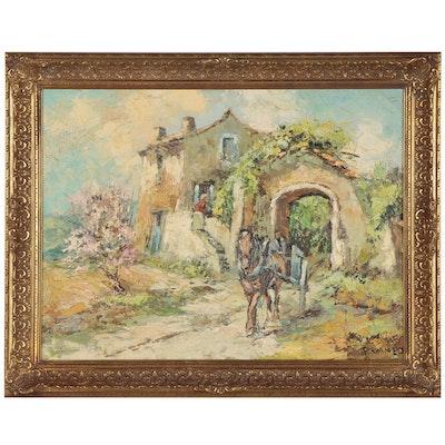 "Walter Prescher van Ed Oil Painting ""In der Bretagne"""