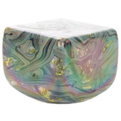 Robert Eickholt Handblown Iridescent Art Glass Paperweight