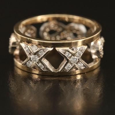 14K 0.48 CTW Diamond Band with Infinity Symbols