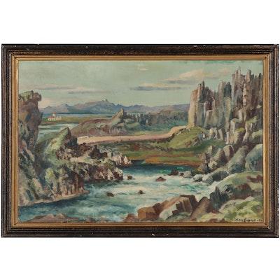Axel Einarsson Landscape Oil Painting