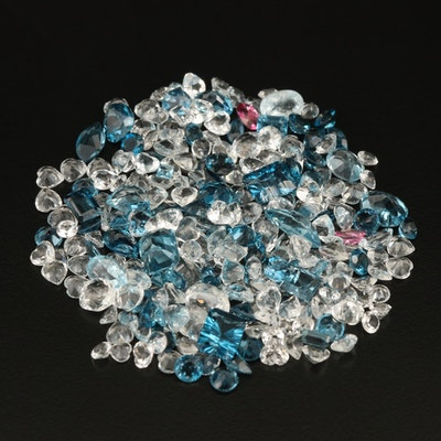 Loose 140.61 CTW Mixed Faceted Topaz Assortment