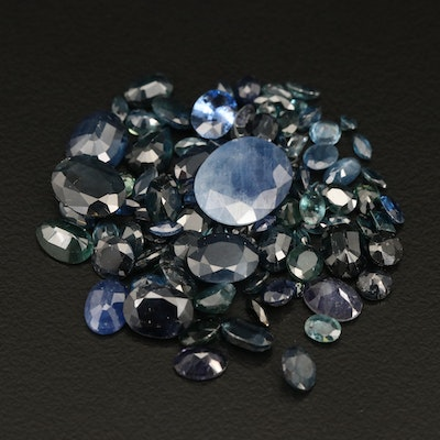 Loose 39.16 CTW Mixed Faceted Sapphires