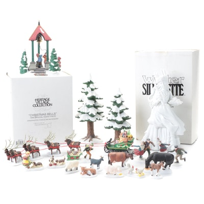 """Department 56 """"Heritage Village"""" and Other Porcelain Villagers and Figurines"""