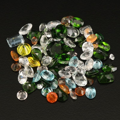 Loose 68.08 CTW Gemstones Including Fire Opal, Diopside and Zircon