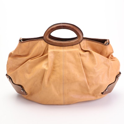 Marni Hobo with Leather Top Handles and Trim