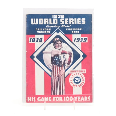 1939 World Series Program, Crosley Field, Cincinnati Reds vs. New York Yankees