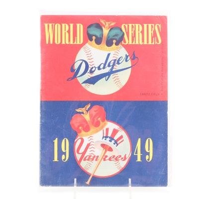 1949 World Series Program, Ebbets Field, Brooklyn Dodgers vs. New York Yankees