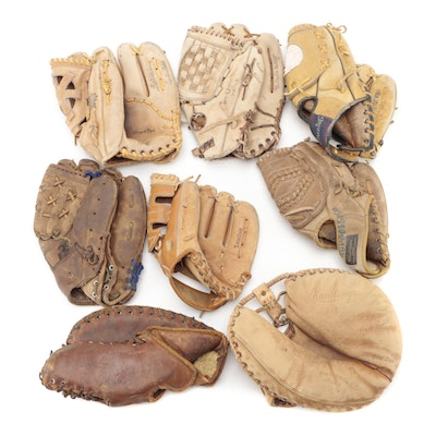 Baseball Gloves Endorsed by Ted Williams and Others, 1940s-1970s