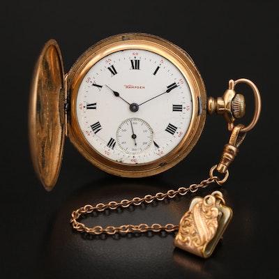 1904 Hampden Hunting Case Pocket Watch