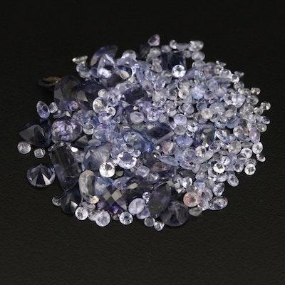 Loose 46.44 CTW Tanzanite and Iolite Selection